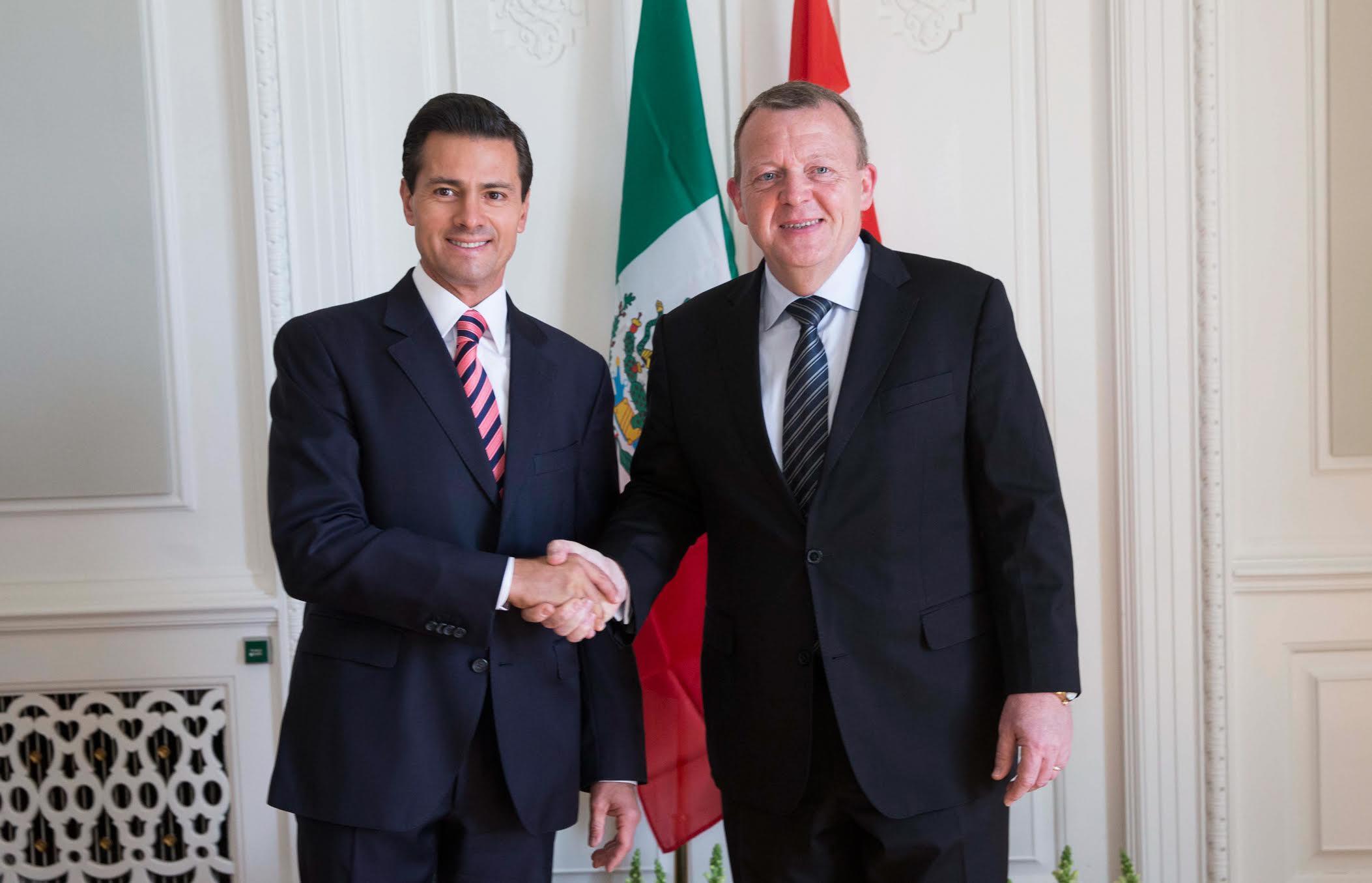 El Presidente Enrique Peña Nieto, y Primer Ministro de Dinamarca, Lars Lokke Rasmussen.