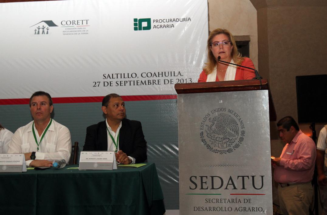 """La subsecretaria de Desarrollo Agrario, Georgina Trujillo, inauguró el Segundo Foro Regional """"Desarrollo Agrario"""" en Coahuila."""