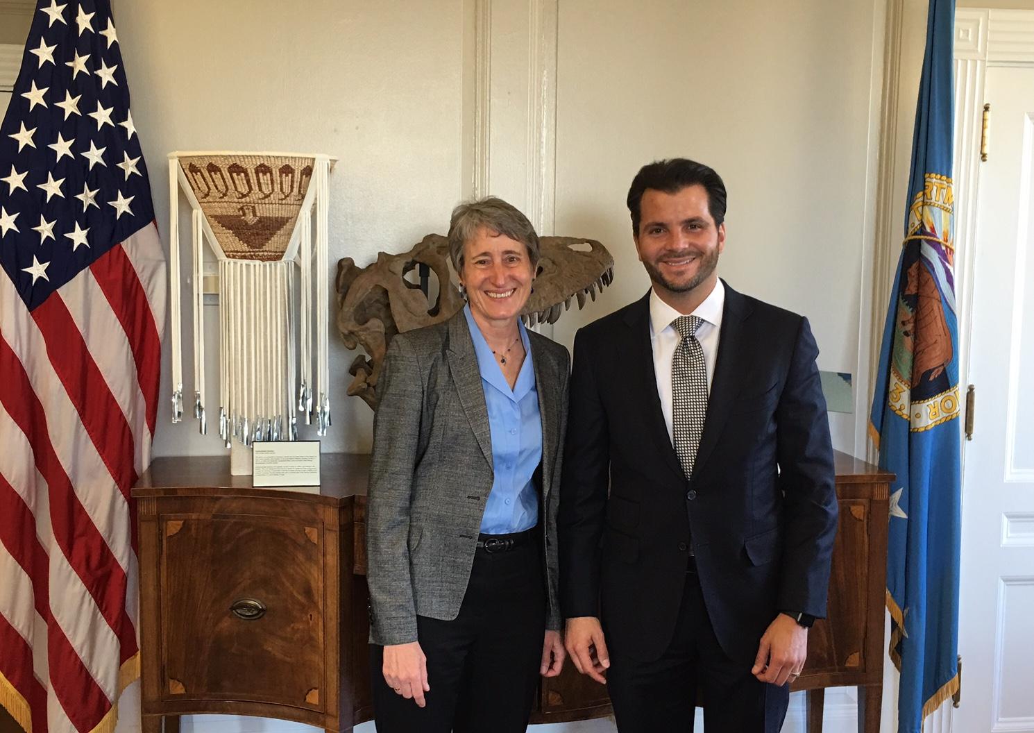Reunión de trabajo con Sally Jewell del Departamento del Interior de Estados Unidos