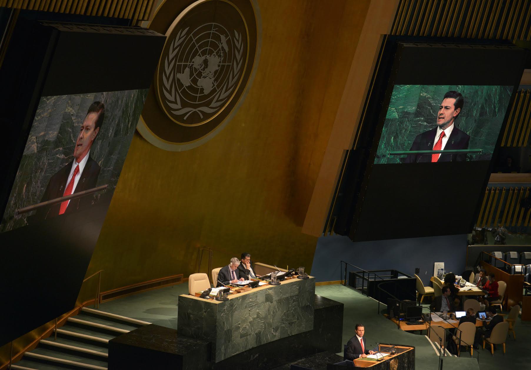 El Primer Mandatario participó en el Debate General de la Sesión Especial de la ONU sobre el Problema Mundial de las Drogas 2016.