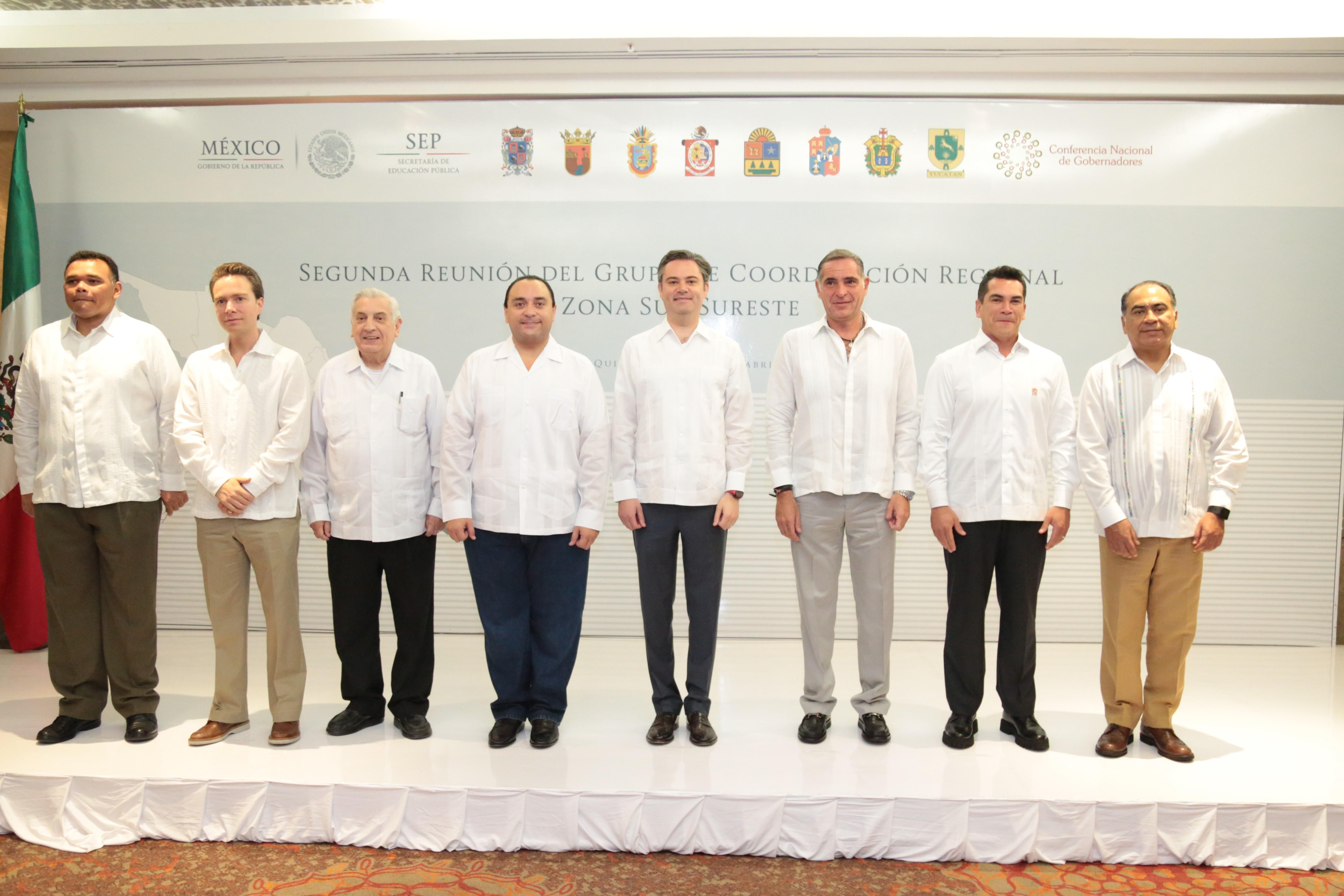 Firman Acuerdo de Cancún al concluir la Segunda Reunión del Grupo de Coordinación Regional Zona Sur-Sureste