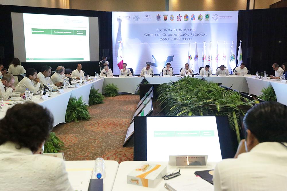Conferencia de Prensa al término de la Segunda Reunión del Grupo de Coordinación Regional Zona Sur-Sureste, en Cancún, Quintana Roo.