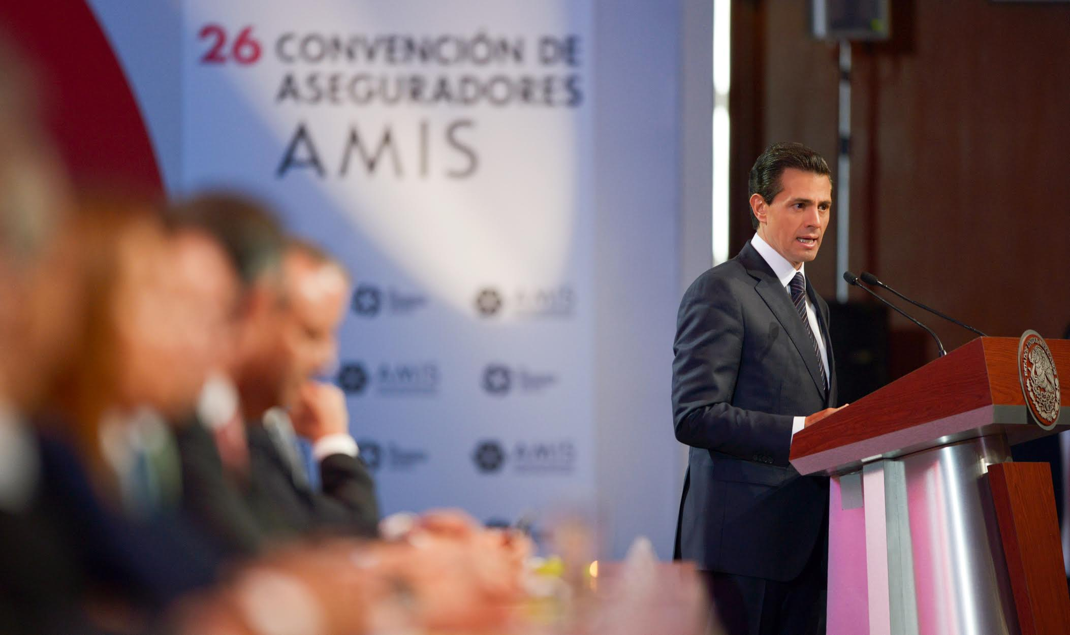 The president led the 26th Convention of Mexican Insurance Companies.