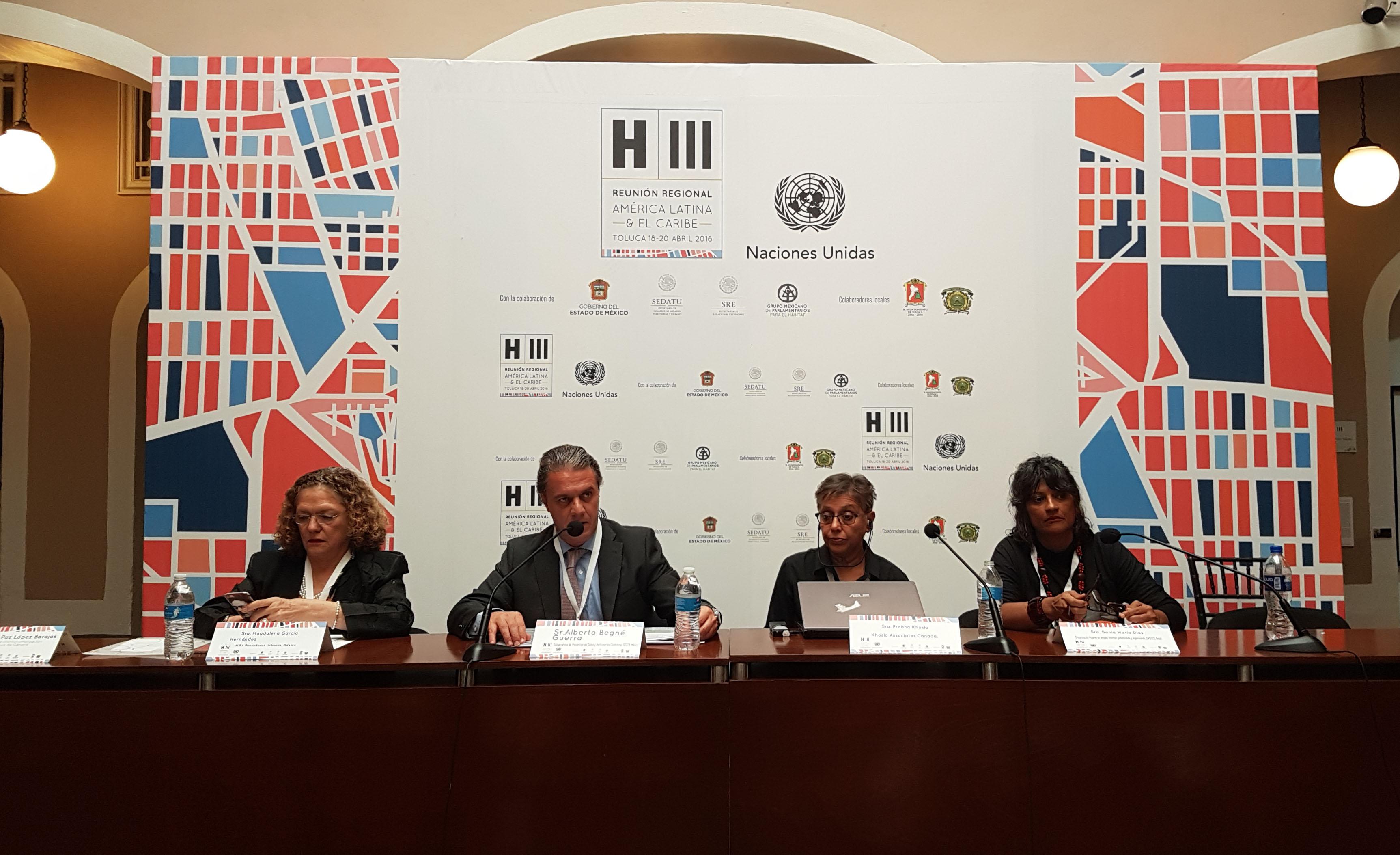 El subsecretario participó en reunión la regional de preparación para la conferencia de Naciones Unidas sobre Vivienda y Desarrollo Urbano Sustentable (Hábitat III)