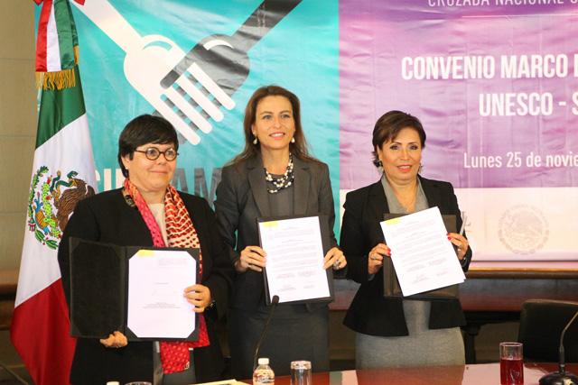 Firman Sedesol y la Organización de las Naciones Unidas para la Educación, la Ciencia y la Cultura (UNESCO) un convenio para establecer las bases de cooperación para el diseño y desarrollo de acciones para mejorar la calidad de vida de la población.