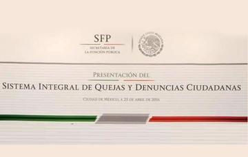 Presentación del Sistema Integral de Quejas y Denuncias Ciudadanas