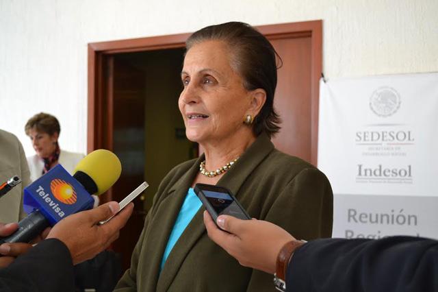 El presupuesto de Indesol ascendió a 300 millones de pesos, de los cuales 7 millones operaron en la entidad: Angélica Luna Parra.