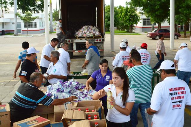 Diconsa envía ayuda humanitaria a los estados de Chiapas y Veracruz.