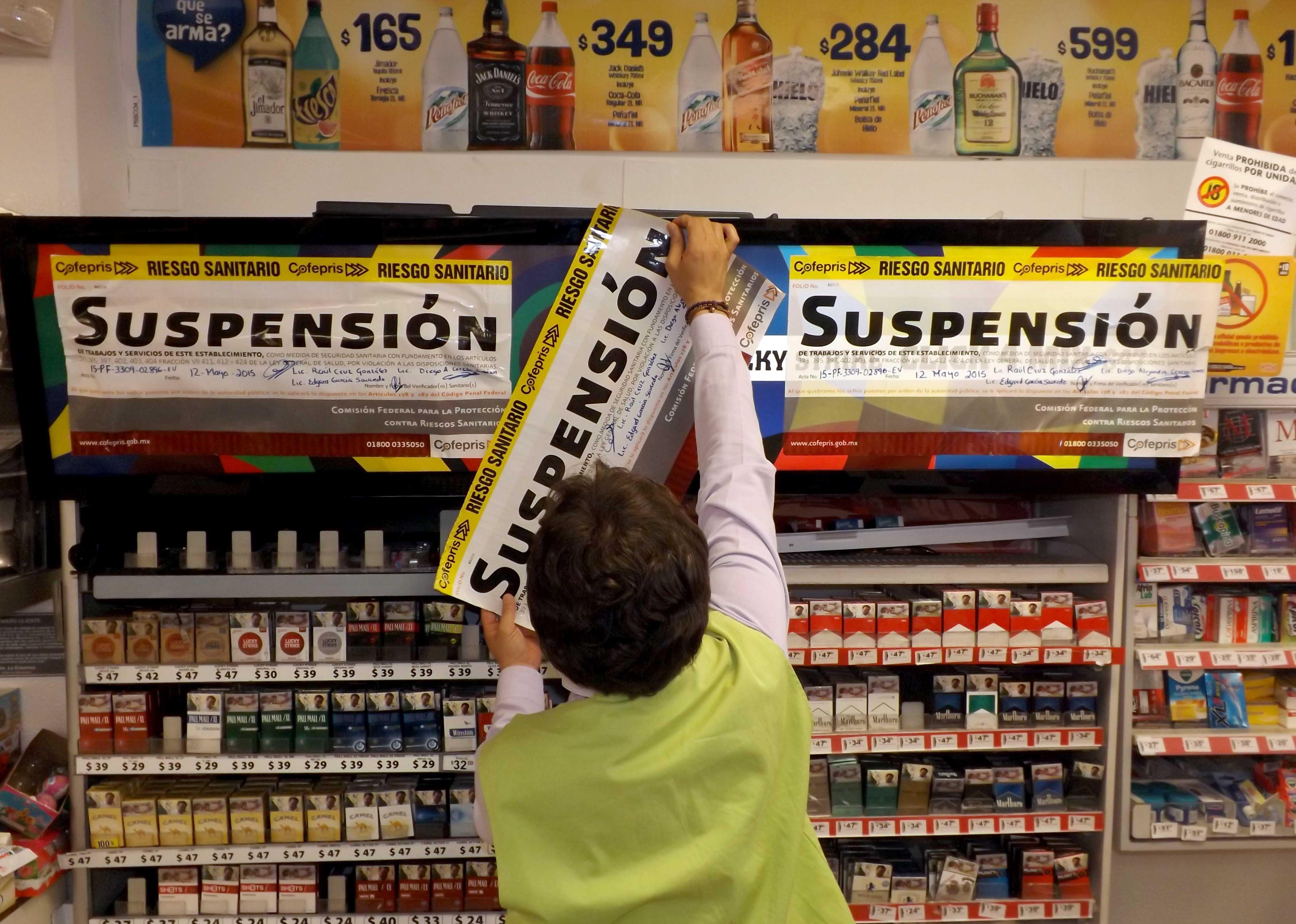 La Secretaría de Salud  detectó violaciones a la Ley General para el Control del Tabaco y su reglamento en materia de publicidad, por parte de tabacaleras en tiendas comerciales.