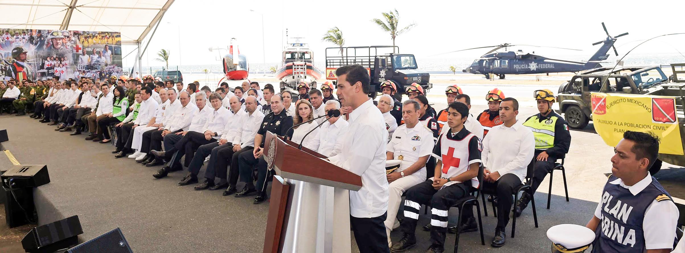 """This year, a budget of more than eight billion pesos has been approved for the Fund for Natural Disaster Prevention and the National Disaster Fund,"""" he reported."""