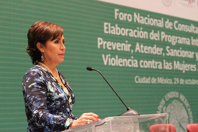 """""""La violencia hacia las mujeres no es normal; es un delito"""", enfatizó la titular de Sedesol"""