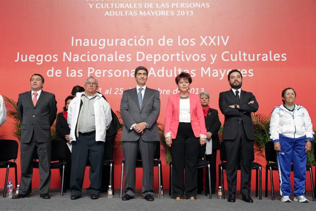 Ernesto Nemer Álvarez participa en el segundo día de actividades de los XXIV Juegos Nacionales Deportivos y Culturales 2013 del Inapam con la representación de la secretaria de Desarrollo Social, Rosario Robles Berlanga.