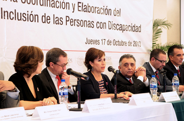 Participa Rosario Robles en la presentación de los Lineamientos para la Coordinación y Elaboración del Plan Nacional de Desarrollo y la Inclusión de las Personas con Discapacidad.