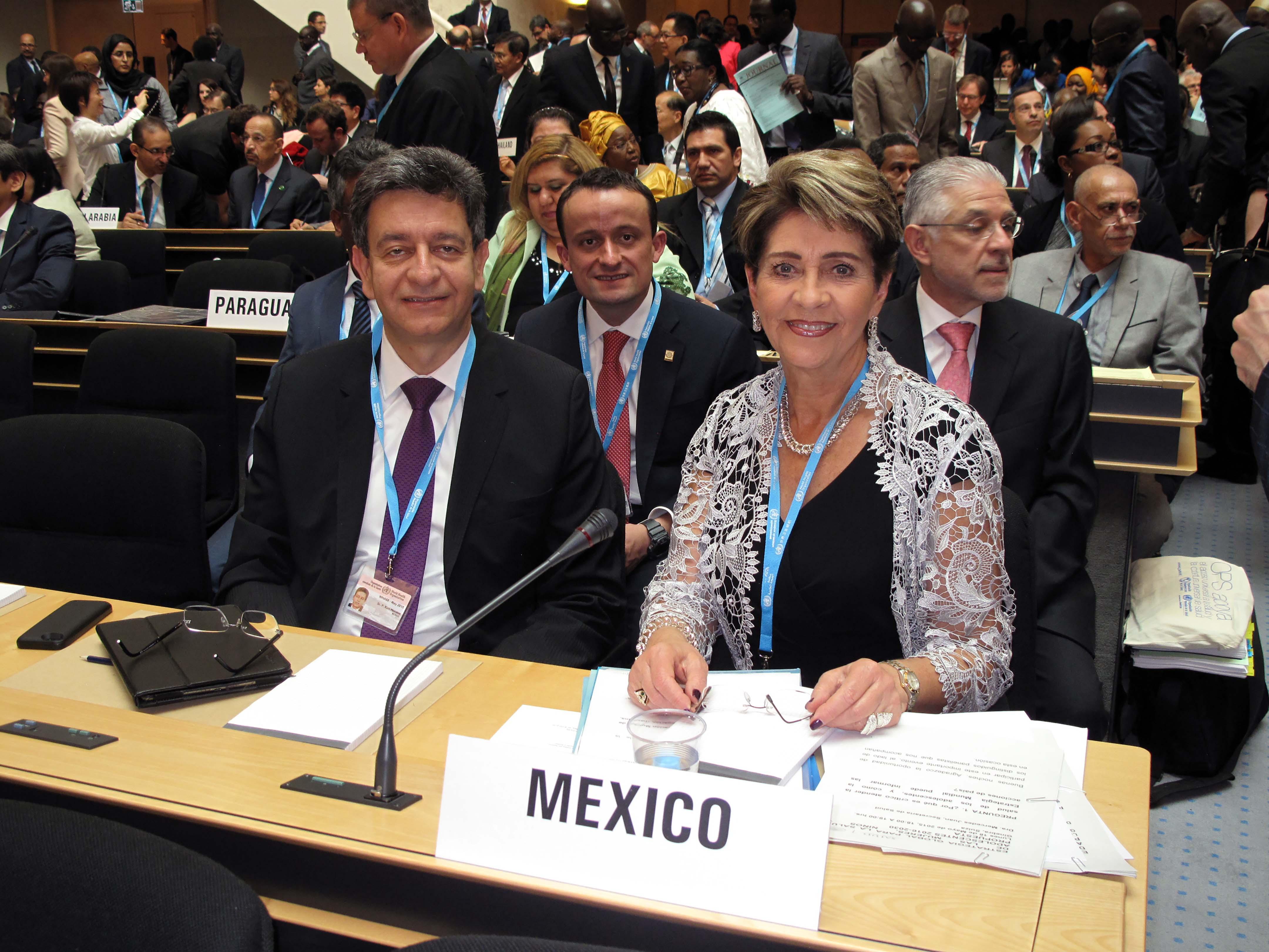 •La Secretaría de Salud de México participa en los trabajos de la 68ª Asamblea Mundial de la Salud que se realiza en Ginebra, Suiza.