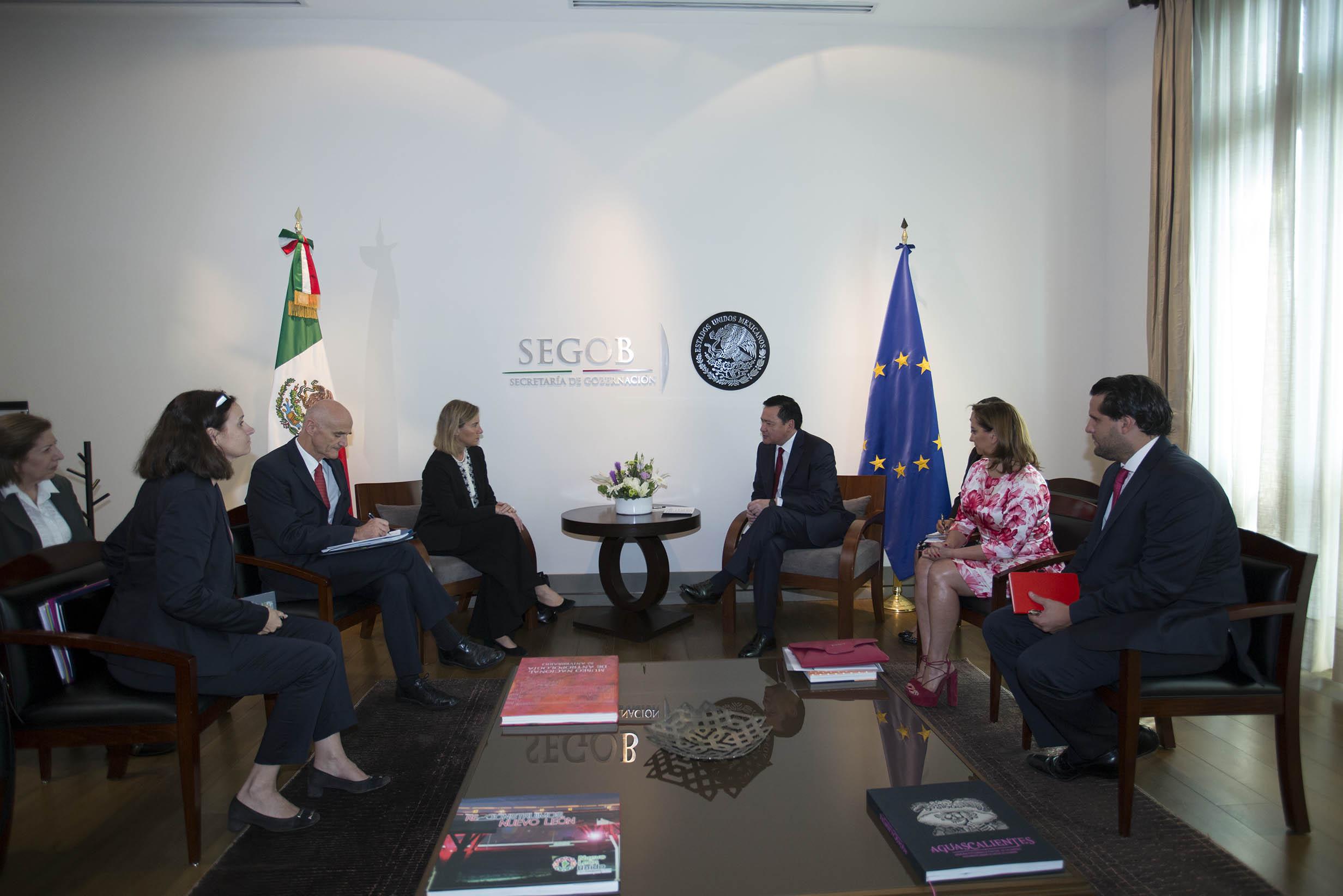 El Secretario de Gobernación inauguró el Segundo Diálogo de Seguridad Pública y Procuración de Justicia México-Unión Europea