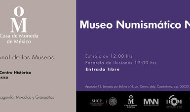 Invitación Museo Numismático Nacional, Día Internacional de los Museos.