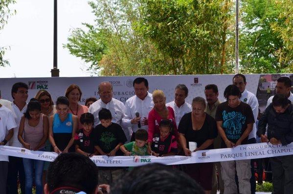 Inauguración del Parque Lineal Chapultepec