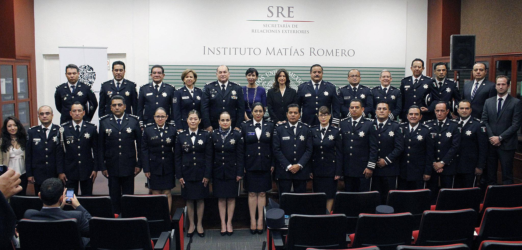 SRE y SEGOB capacitan a Policías Federales en materia de Diplomacia, Seguridad y Cooperación Internacionales