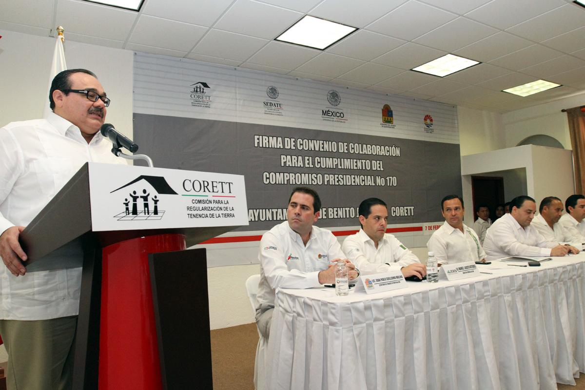 En gira de trabajo, el titular de la Secretaría de Desarrollo Agrario, Territorial y Urbano (SEDATU), Jorge Carlos Ramírez Marín.
