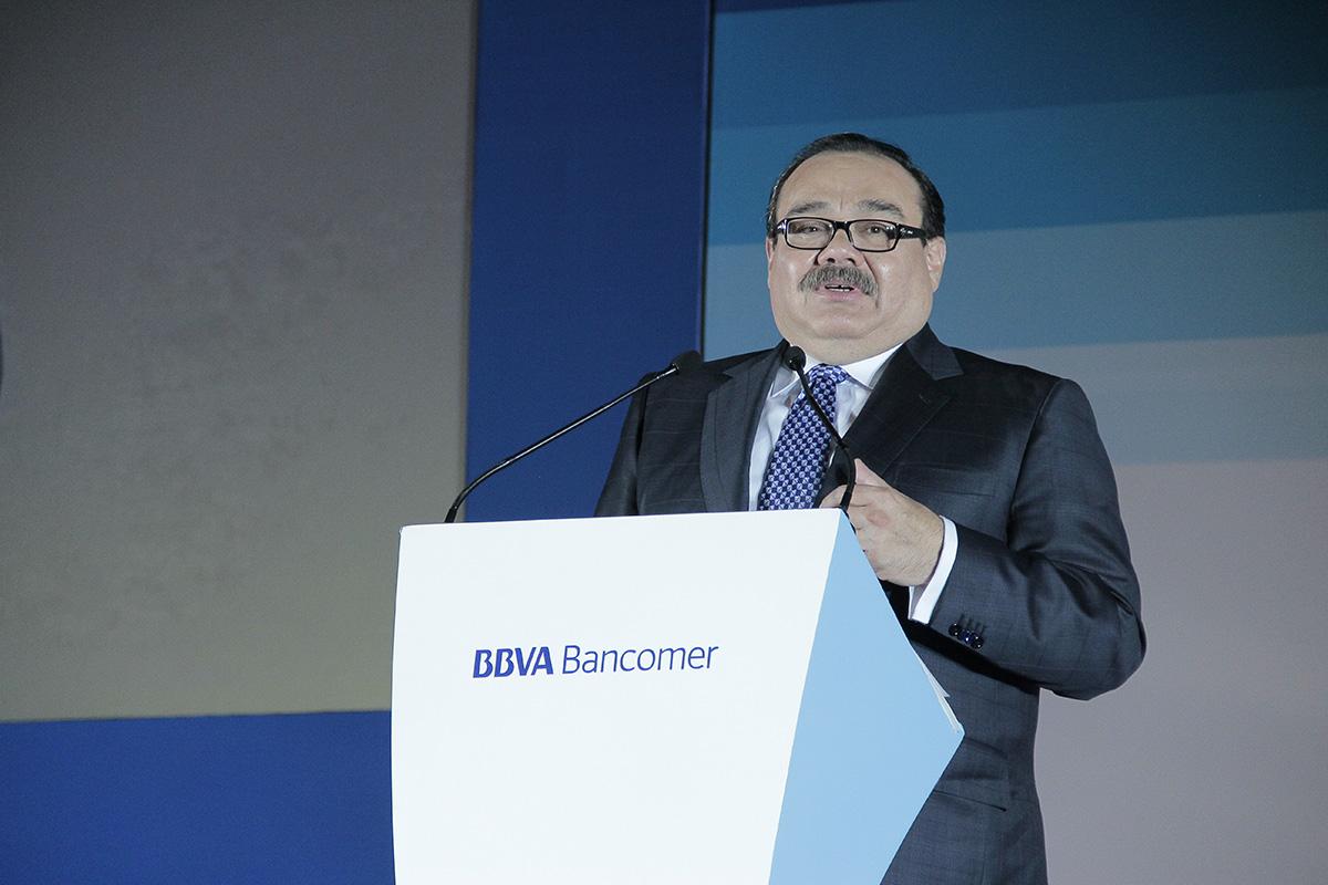 Secretario de Desarrollo Agrario, Territorial y Urbano, Jorge Carlos Ramírez Marín, en el evento de Vivienda BBVA Bancomer 2014.