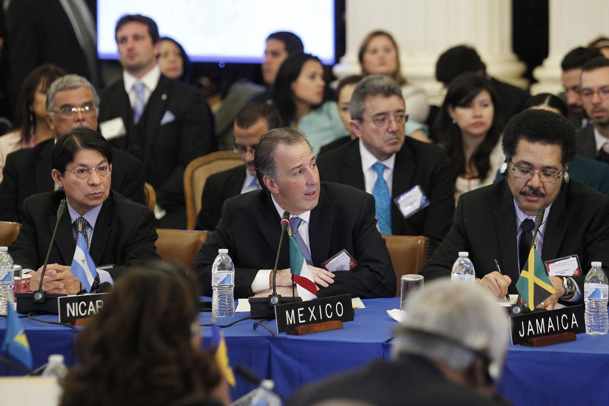 El canciller Meade participó en la elección del nuevo secretario general de la OEA