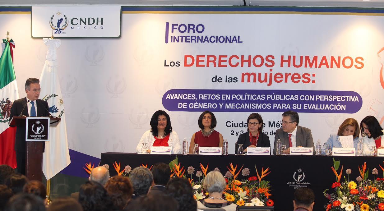 Asiste el Subsecretario Miguel Ruiz Cabañas al Foro Internacional, Los Derechos Humanos de las Mujeres: avances, retos en políticas públicas con perspectiva de género y mecanismos para su evaluación