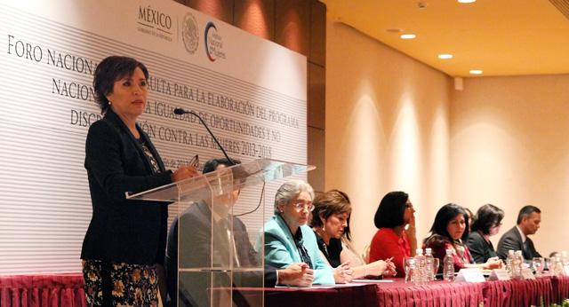 Inaugura la secretaria de Desarrollo Social el Foro Nacional de Consulta para la Elaboración del Programa Nacional Para la Igualdad de Oportunidades y no Discriminación contra las Mujeres 2013-2018