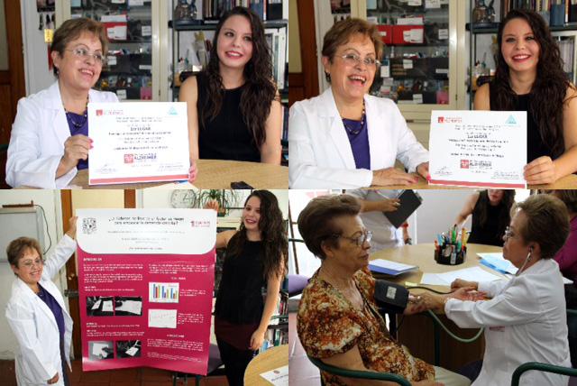 La doctora Luz Esther Rangel, coordinadora de la Clínica de la Memoria del Inapam obtuvo el primer lugar en la categoría Investigación de la Enfermedad de Alzheimer en el XVIII Congreso Nacional de Alzheimer en Monterrey, N.L.