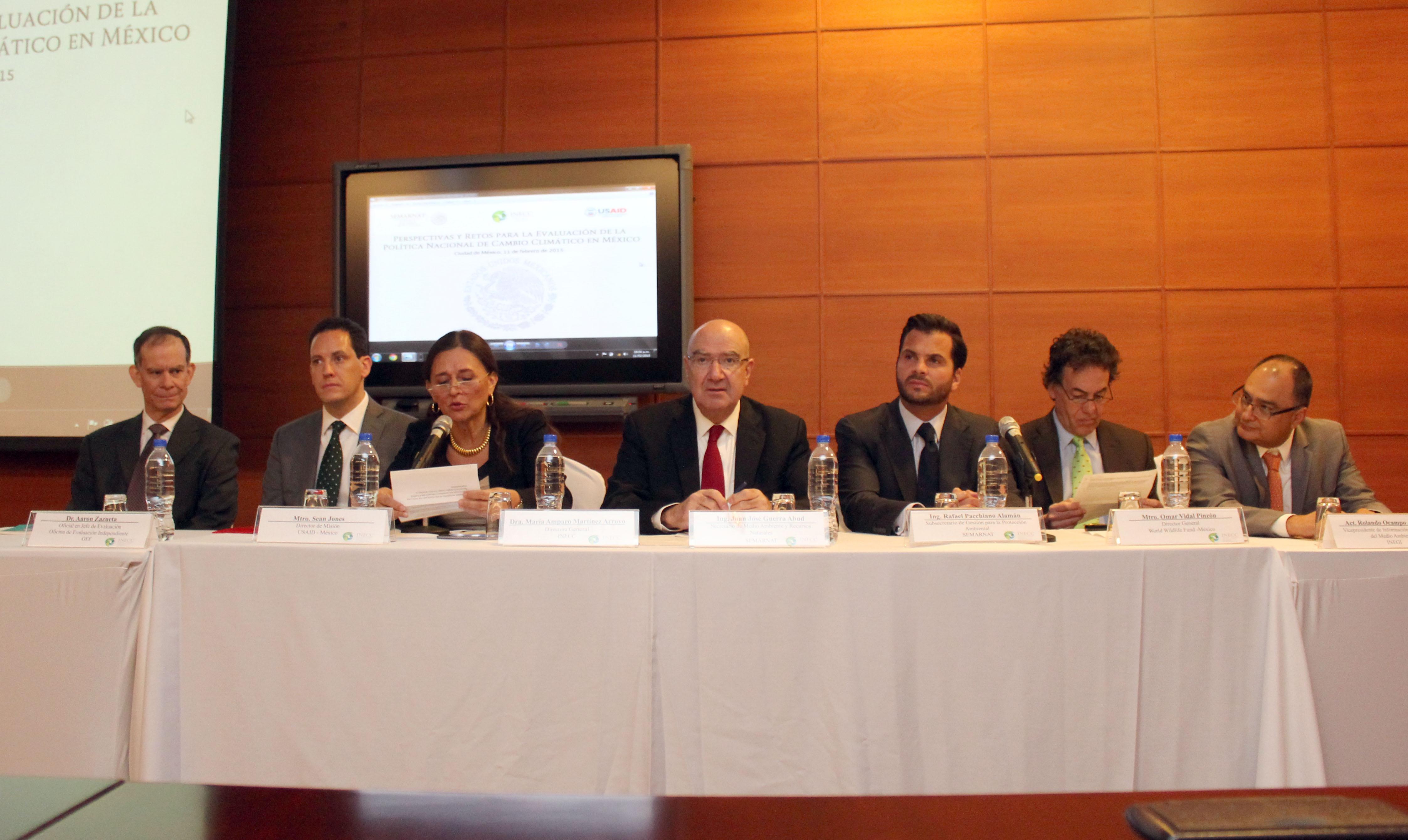 Sesión Inaugural del Taller de Trabajo: Perspectivas y retos para la evaluación de la Política Nacional de Cambio Climático en México.
