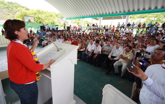 Encabeza Rosario Robles Berlanga Reunión Intersecretarial de la Cruzada y  el Programa Seguro de Vida para Jefas de Familia en la Costa Grande de Guerrero