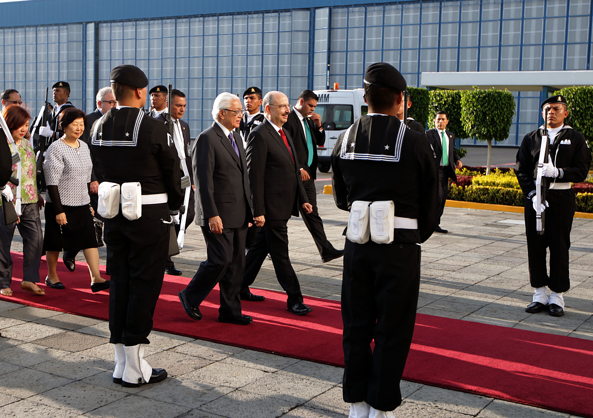 El Presidente de Singapur, Tony Tan Keng Yam, arribó a la Ciudad de México para realizar una visita de Estado a nuestro país.