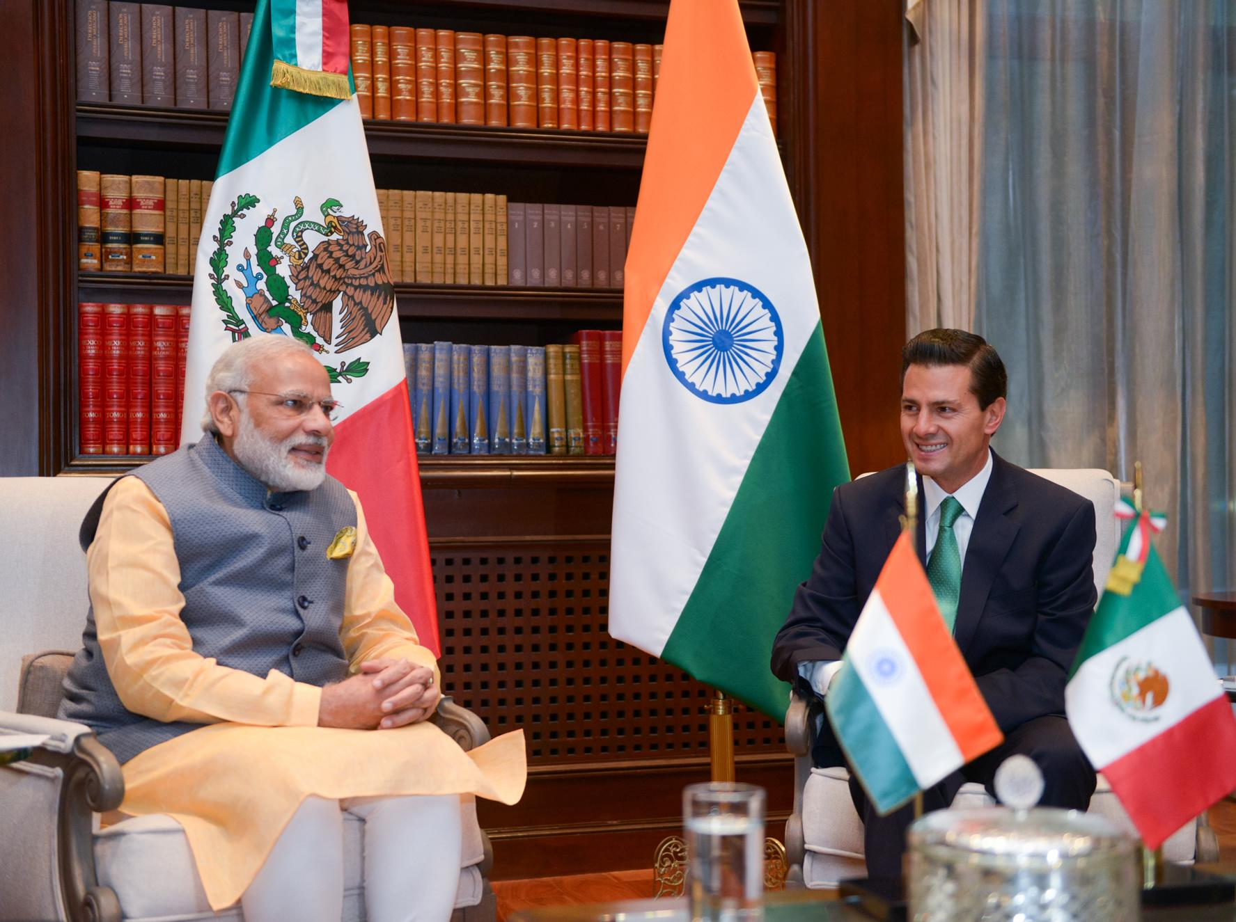 The President of Mexico received the Prime Minister of India, who is on a working visit to Mexico.