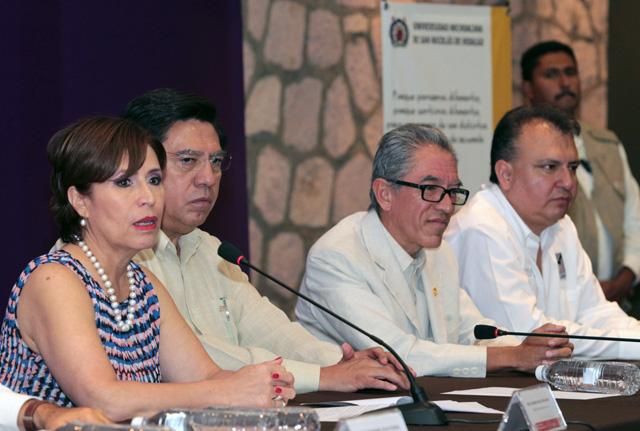 Firman convenio de colaboración la Secretaría de Desarrollo Social y la Universidad Michoacana