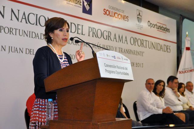 Inaugura Rosario Robles los trabajos de la Convención Nacional del Programa Oportunidades en Querétaro
