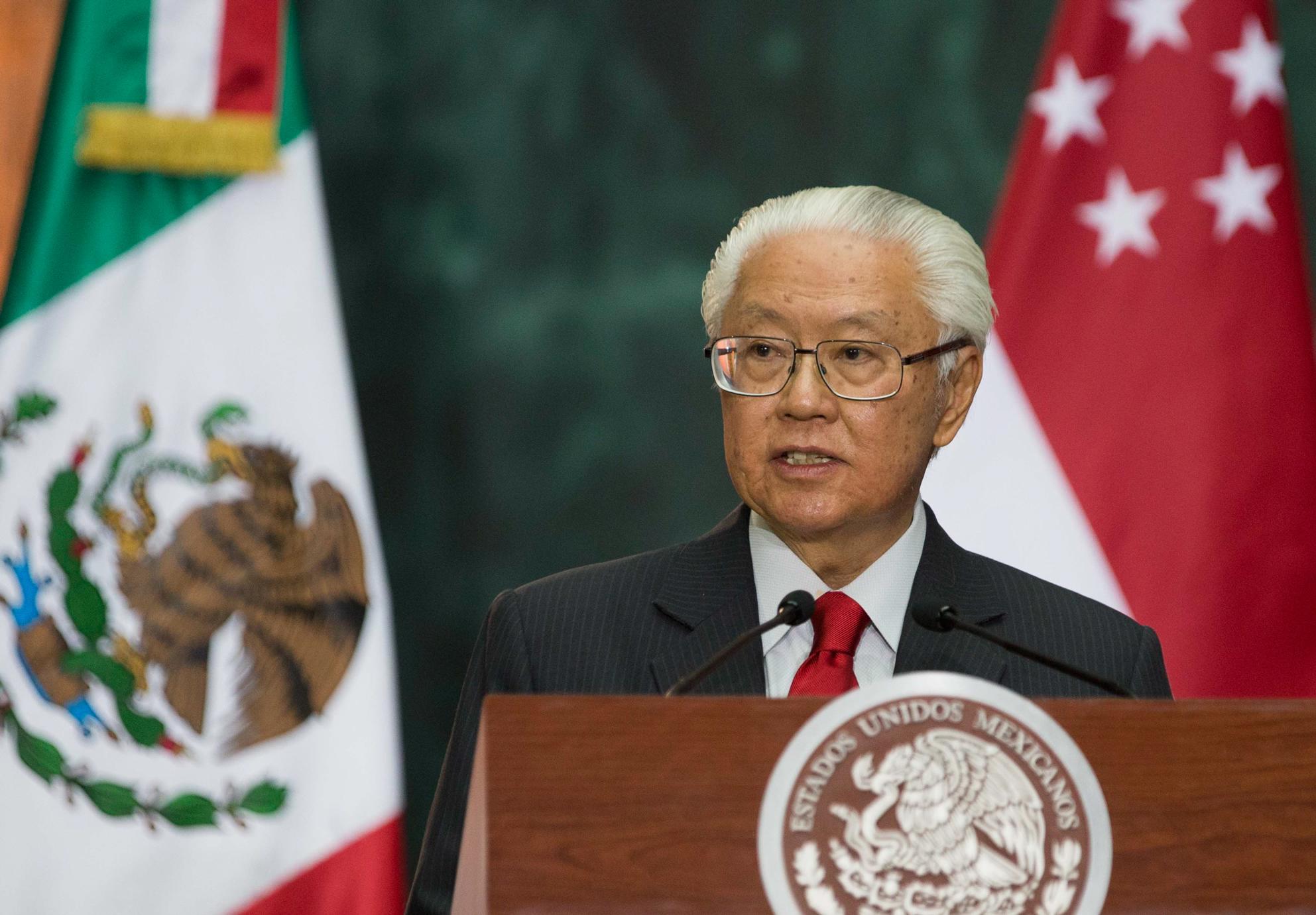 """""""En los últimos 10 años, el comercio entre México y Singapur se ha más que duplicado. México, ahora, es el segundo socio comercial de Singapur en América Latina, y el 26 en todo el mundo"""": Tony Tan Keng Yam"""