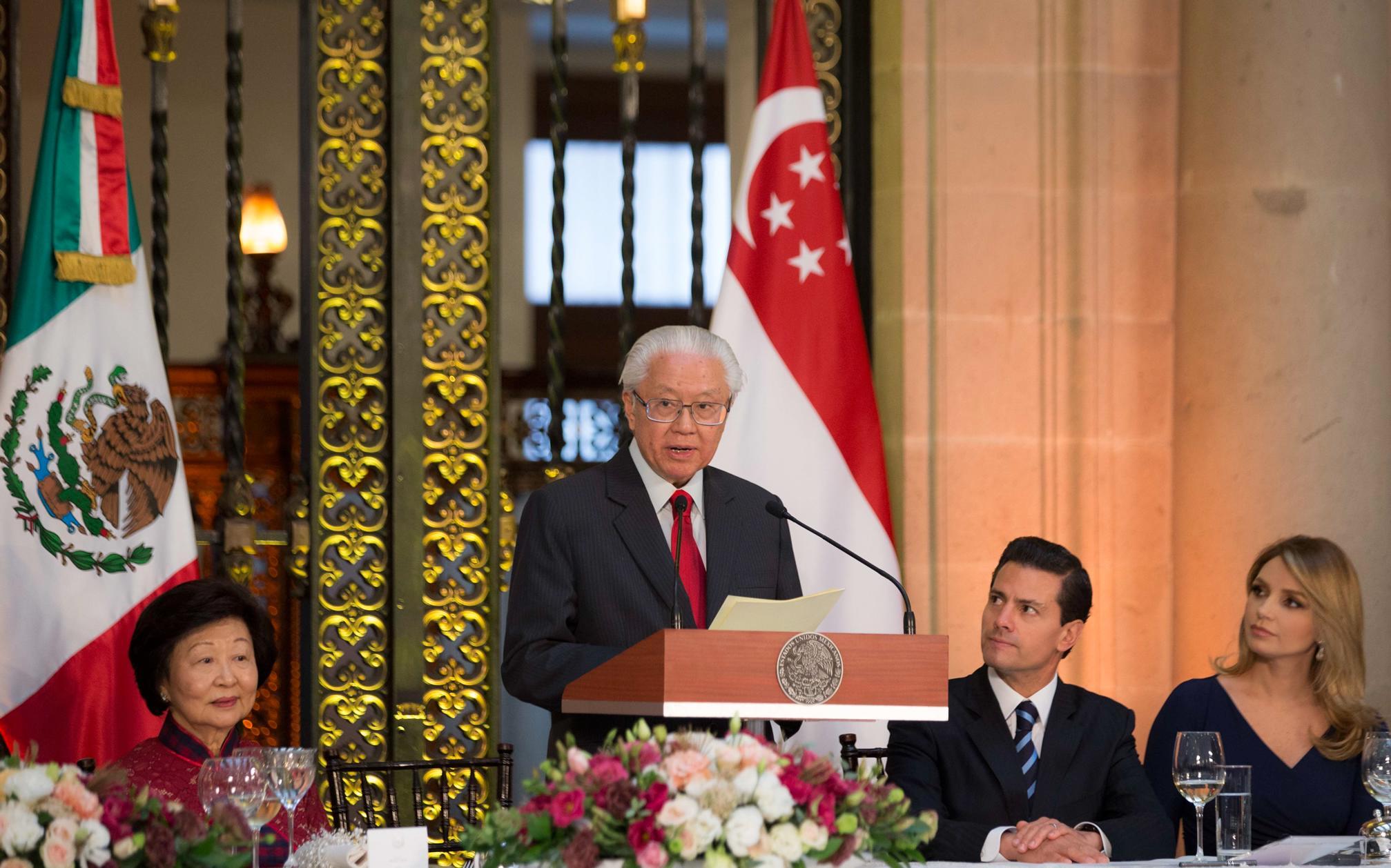 """""""México se ha convertido en el socio comercial de Singapur, el segundo en América Latina. A pesar de los retos, de la distancia y el idioma, la inversión de Singapur en México también ha crecido a través del tiempo"""": Tony Tan Keng Yam"""