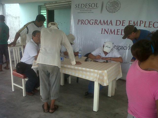 El Programa de Empleo Temporal Inmediato beneficiará a 3 mil 640 personas con el pago de 36 mil 400 jornales.