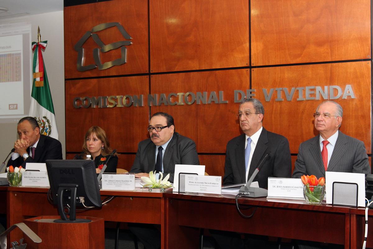 El titular de SEDATU, Jorge Carlos Ramírez Marín, encabezó la sesión de la Comisión Intersecretarial de Vivienda.