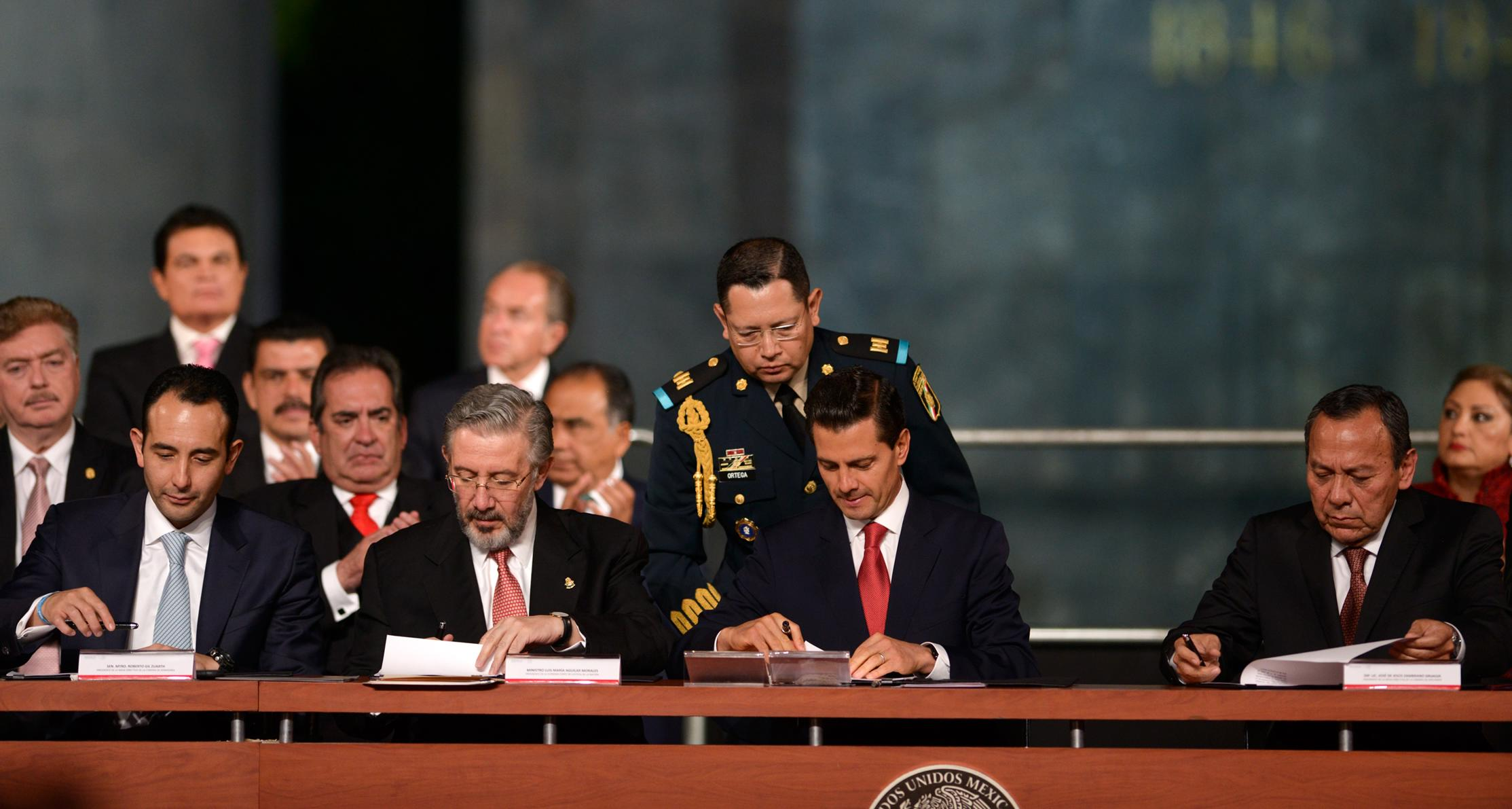 """""""Citizens voices showed us that we could not overcome the challenges of the twenty-first century with laws, mechanisms and procedures of the last century: """" EPN"""