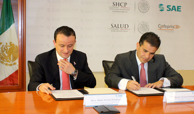 SAE y Cofepris formalizan un convenio de colaboración