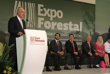 Inaugura Guerra Abud Expo Forestal 2014.