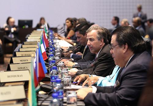 Canciller José Antonio Meade en la reunión ministerial en Panamá