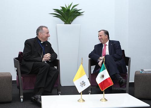 Canciller José Antonio Meade con el secretario de Estado de la Santa Sede, Pietro Parolin
