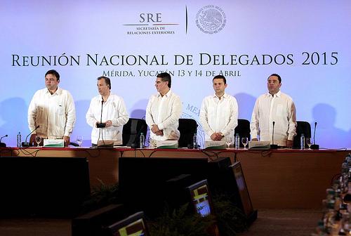 El canciller José Antonio Meade inauguró la Reunión Nacional de Delegados de la SRE, en Mérida