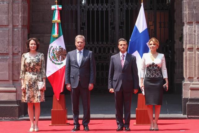 Presidente Peña Nieto recibe al Presidente de Finlandia en Palacio Nacional.