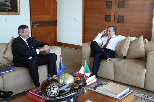 Canciller José Antonio Meade con el Representante Especial para Derechos Humanos de la Unión Europea, Stavros Lambrinidis