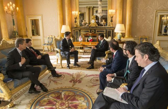 Reunión con los integrantes del Grupo de Alto Nivel Empresarial (GANE) México-Reino Unido.