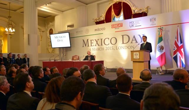 EPN en el Foro de Negocios Mexico Day, en el marco de su Visita de Estado al Reino Unido.