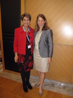 Reunión de trabajo, durante la 68 Asamblea de la OMS.