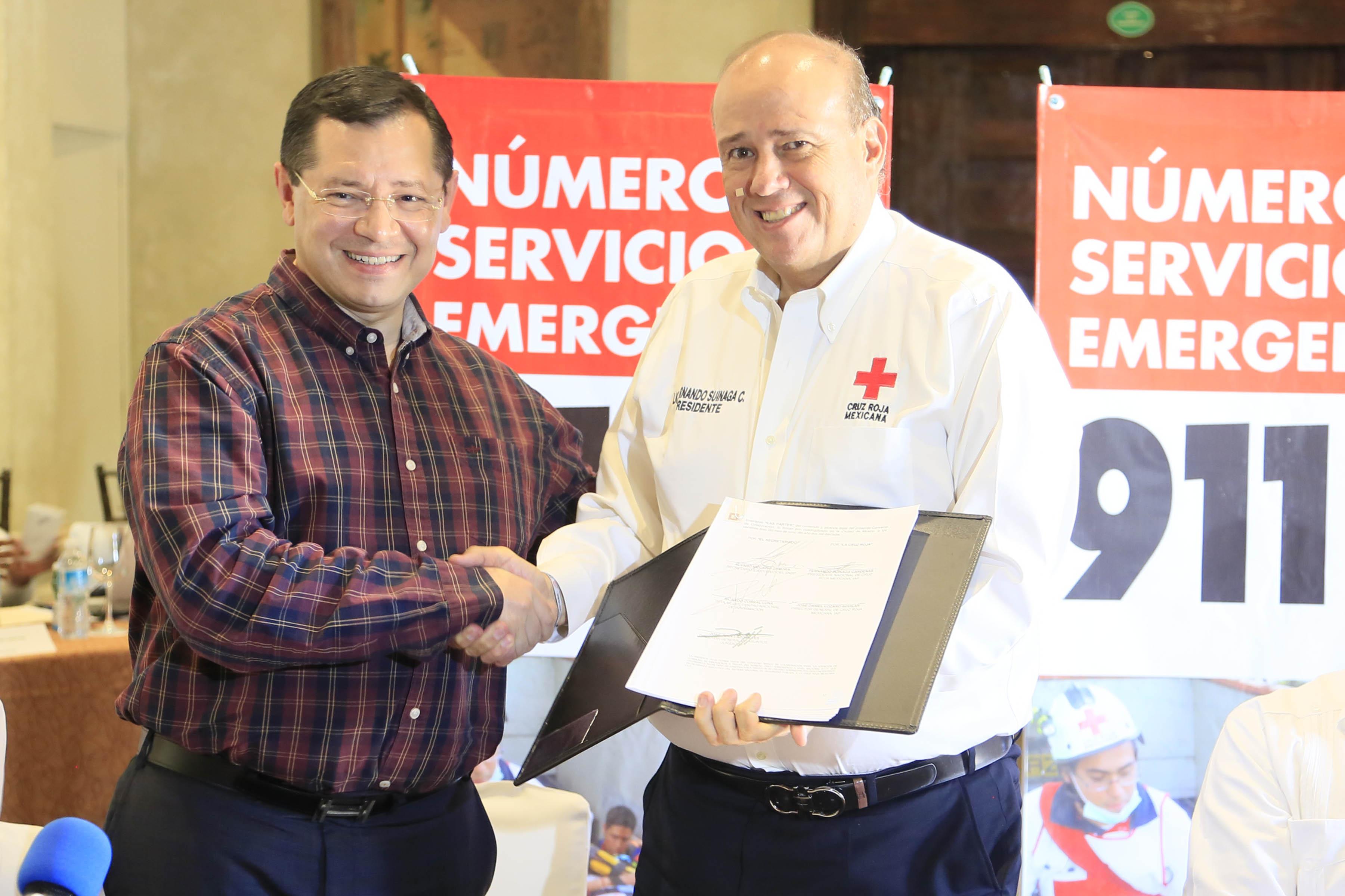 El SESNSP y la Cruz Roja Mexicana mejorarán protocolos de recepción de llamadas y la capacitación del personal para otorgar primeros auxilios a través del 9-1-1